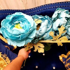 4pcs Artificial blue flower arrangements